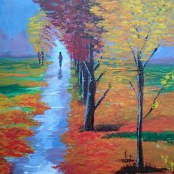 Malujeme na plátno - akryl